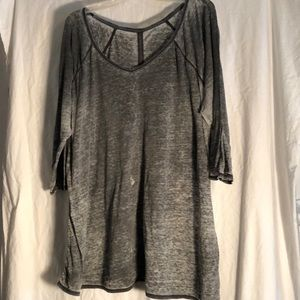 Gray v neck T-shirt